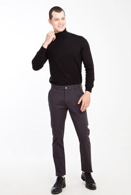 Erkek Giyim - Füme Gri 48 Beden Kuşgözü Spor Pantolon