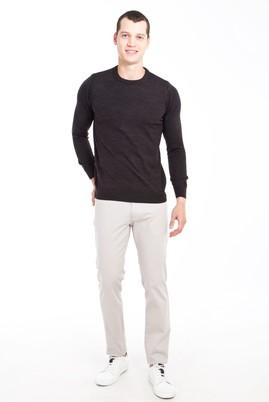 Erkek Giyim - AÇIK GRİ 48 Beden Slim Fit Desenli Spor Pantolon