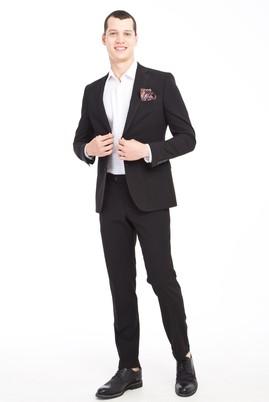 Erkek Giyim - SİYAH 50 Beden Klasik Takım Elbise