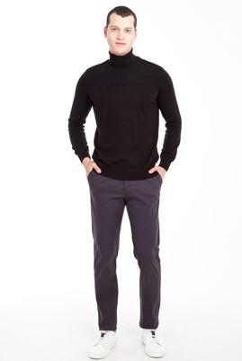 Erkek Giyim - ANTRASİT 46 Beden Slim Fit Desenli Spor Pantolon