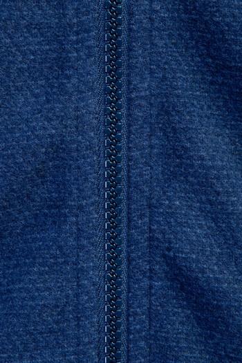 Erkek Giyim - Fermuarlı Desenli Slim Fit Sweatshirt