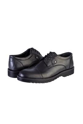 Erkek Giyim - SİYAH 41 Beden Klasik Bağcıklı Deri Ayakkabı