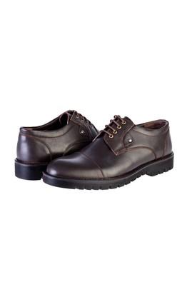 Erkek Giyim - KAHVE 40 Beden Klasik Bağcıklı Deri Ayakkabı