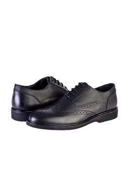 Erkek Giyim - SİYAH 40 Beden Klasik Bağcıklı Deri Ayakkabı