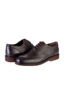 Erkek Giyim - KAHVE 41 Beden Klasik Bağcıklı Deri Ayakkabı