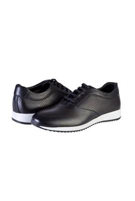 Erkek Giyim - SİYAH 40 Beden Spor Bağcıklı Deri Ayakkabı