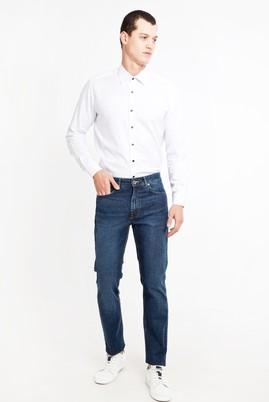 Erkek Giyim - KOYU MAVİ 48 Beden Slim Fit Denim Pantolon