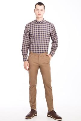 Erkek Giyim - Açık Kahve - Camel 48 Beden Slim Fit Spor Pantolon