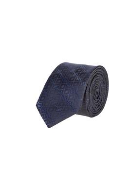 Erkek Giyim - SİYAH 65 Beden Desenli Kravat