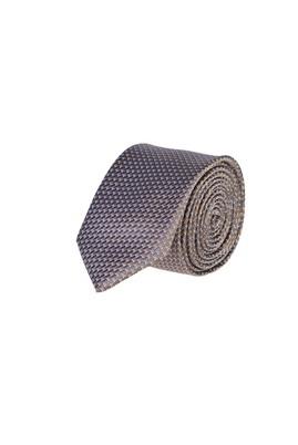Erkek Giyim - ORTA FÜME 65 Beden Desenli Kravat