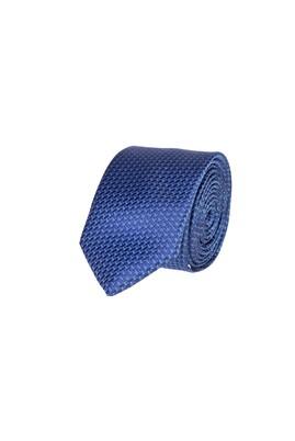 Erkek Giyim - LACİVERT 65 Beden Desenli Kravat