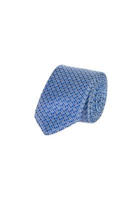 Erkek Giyim - MAVİ 65 Beden Desenli İnce Kravat