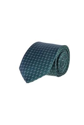 Erkek Giyim - KOYU YESİL 65 Beden Desenli İnce Kravat