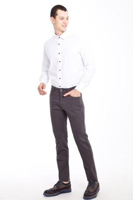 Erkek Giyim - FÜME GRİ 48 Beden Desenli Spor Pantolon