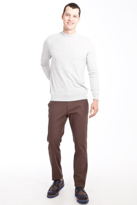 Erkek Giyim - KAHVE 52 Beden Desenli Spor Pantolon