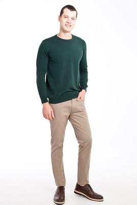 Erkek Giyim - BEJ 50 Beden Slim Fit Desenli Spor Pantolon