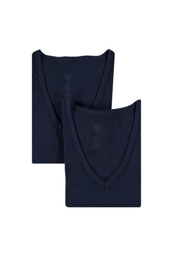 Erkek Giyim - 2'li V Yaka Atlet