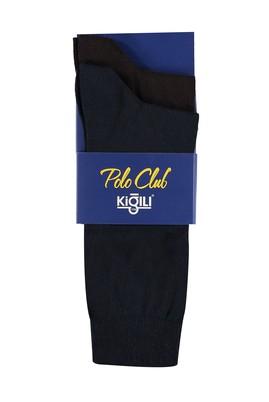 Erkek Giyim - Kahve 42 Beden 2'li Düz Çorap