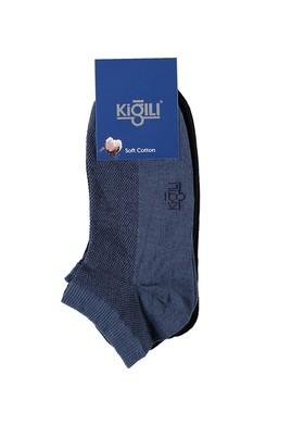 Erkek Giyim - Siyah 39 Beden 2'li Spor Çorap