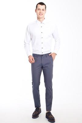 Erkek Giyim - Füme Gri 46 Beden Slim Fit Desenli Spor Pantolon