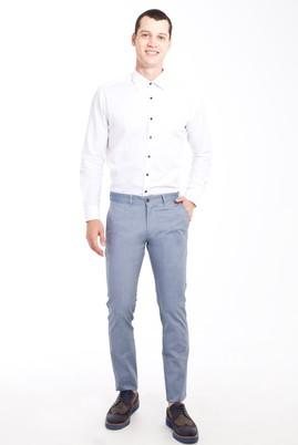 Erkek Giyim - Mavi 48 Beden Slim Fit Desenli Spor Pantolon