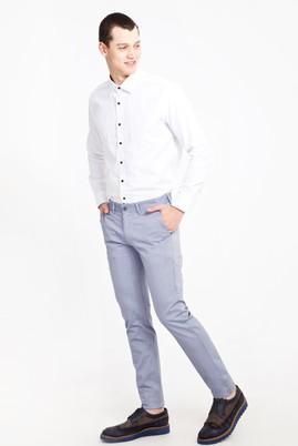 Erkek Giyim - Açık Mavi 46 Beden Slim Fit Desenli Spor Pantolon