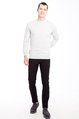Erkek Giyim - Siyah 48 Beden Slim Fit Spor Pantolon