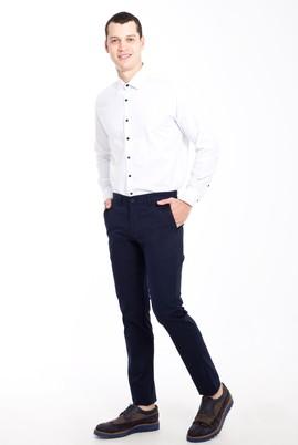 Erkek Giyim - Lacivert 52 Beden Slim Fit Desenli Spor Pantolon