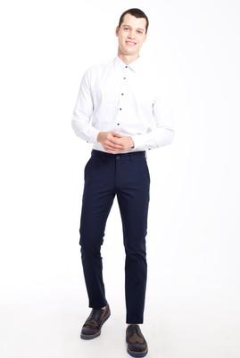 Erkek Giyim - KOYU MAVİ 48 Beden Slim Fit Desenli Spor Pantolon