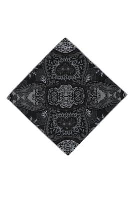 Erkek Giyim - Siyah STD Beden Desenli Mendil