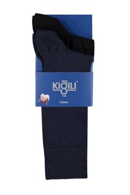 Erkek Giyim - RENKSİZ 42 Beden 2'li Desenli Çorap