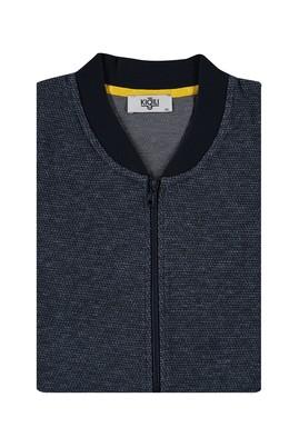 Erkek Giyim - LACİVERT 4X Beden King Size Fermuarlı Sweatshirt