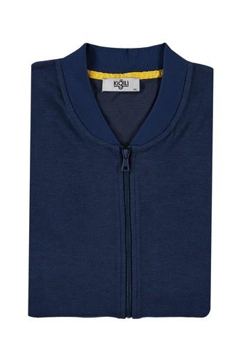 Erkek Giyim - King Size Fermuarlı Sweatshirt