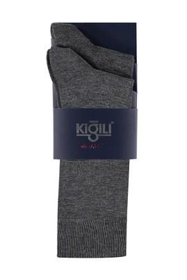 Erkek Giyim - FÜME GRİ 39 Beden 2'li Düz Çorap
