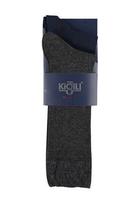 Erkek Giyim - LACİVERT 42 Beden 2'li Düz Çorap