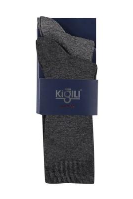 Erkek Giyim - ANTRASİT 39 Beden 2'li Düz Çorap