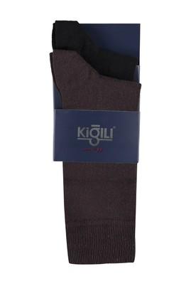 Erkek Giyim - KAHVE 39 Beden 2'li Düz Çorap
