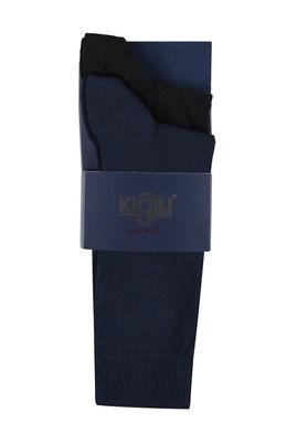 Erkek Giyim - SİYAH 39 Beden 2'li Düz Çorap