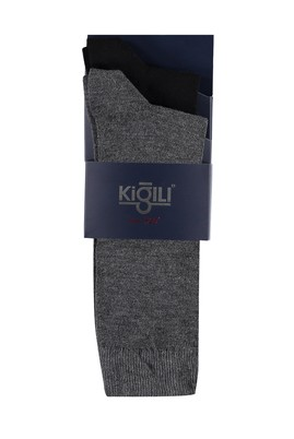Erkek Giyim - SİYAH 42 Beden 2'li Düz Çorap