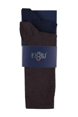 Erkek Giyim - LACİVERT 39 Beden 2'li Düz Çorap