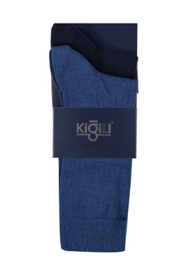 Erkek Giyim - MAVİ 42 Beden 2'li Düz Çorap