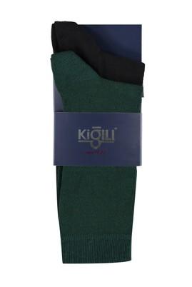 Erkek Giyim - KOYU YESİL 42 Beden 2'li Düz Çorap