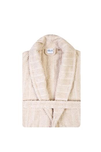 Erkek Giyim - Şal Yaka Jakarlı Bornoz