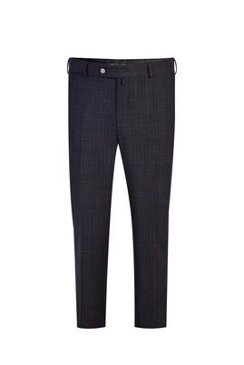 Erkek Giyim - Füme Gri 50 Beden Klasik Ekose Pantolon