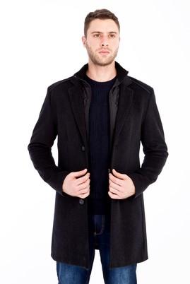 Erkek Giyim - ANTRASİT XL Beden Yünlü Kaban