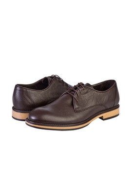 Erkek Giyim - KAHVE 43 Beden Bağcıklı Klasik Ayakkabı