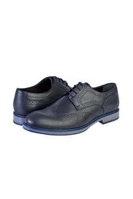Erkek Giyim - LACİVERT 44 Beden Bağcıklı Klasik Ayakkabı