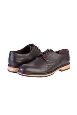 Erkek Giyim - KAHVE 42 Beden Bağcıklı Klasik Ayakkabı