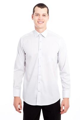 Erkek Giyim - AÇIK GRİ XXL Beden Uzun Kol Klasik Gömlek