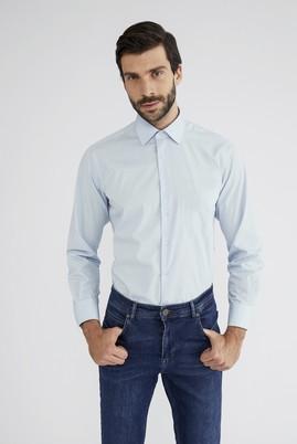 Erkek Giyim - AÇIK MAVİ XL Beden Uzun Kol Klasik Gömlek